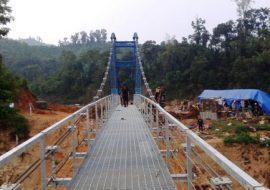 Tấm sàn grating Cầu treo dân sinh